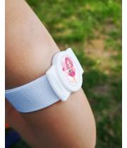 Armband with flexible frame to protect sensor Freestyle Libre - white